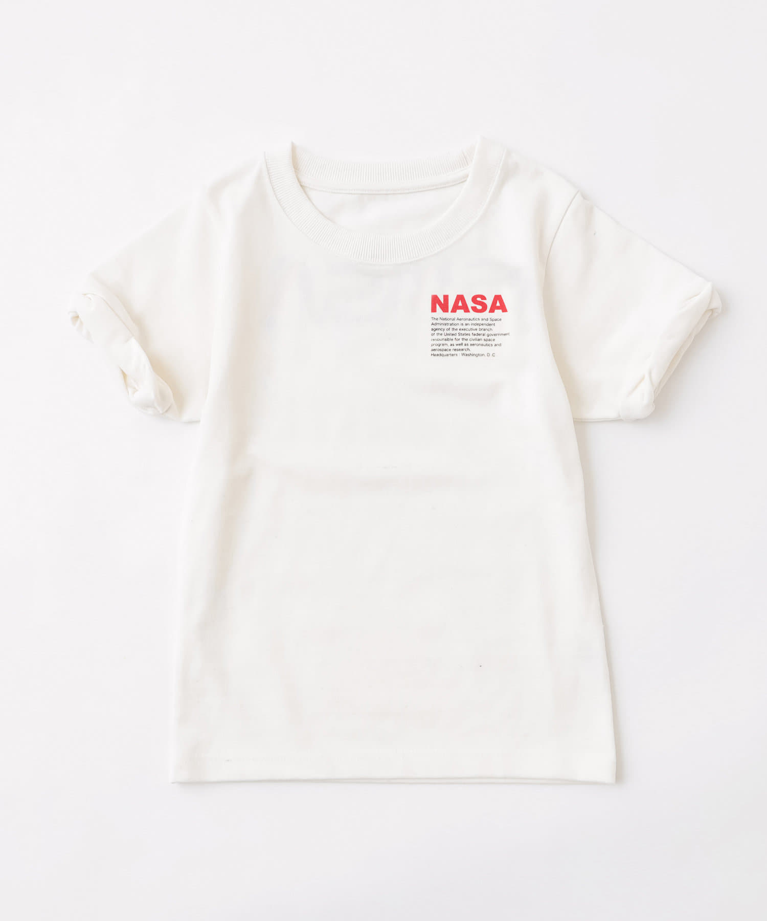 who's who Chico(フーズフーチコ) Kids NASAバックロゴ半袖Tシャツ