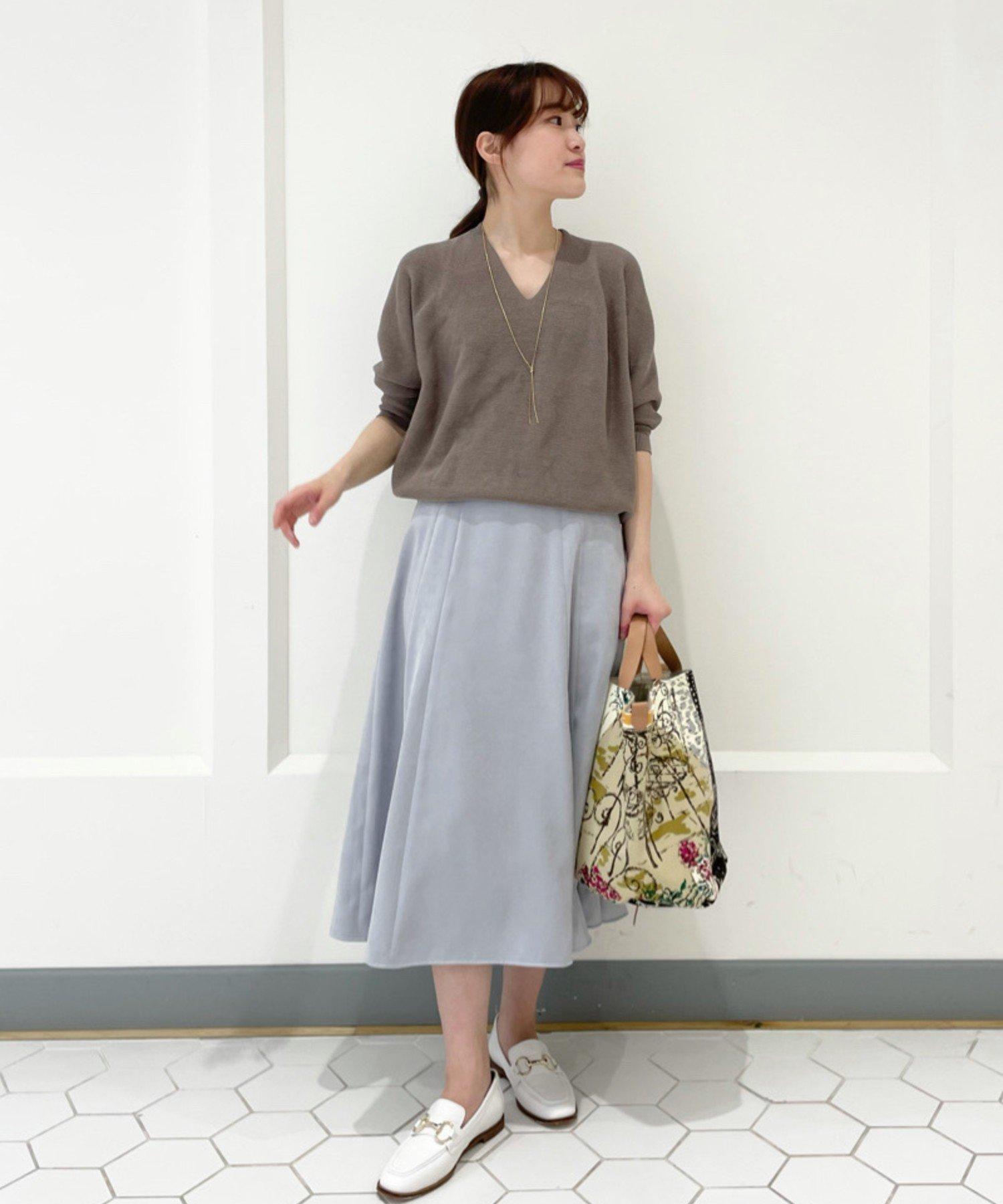 OUTLET premium(アウトレット プレミアム) 【《美しい発色が魅力》手洗い可】エコスウェードフレアースカート