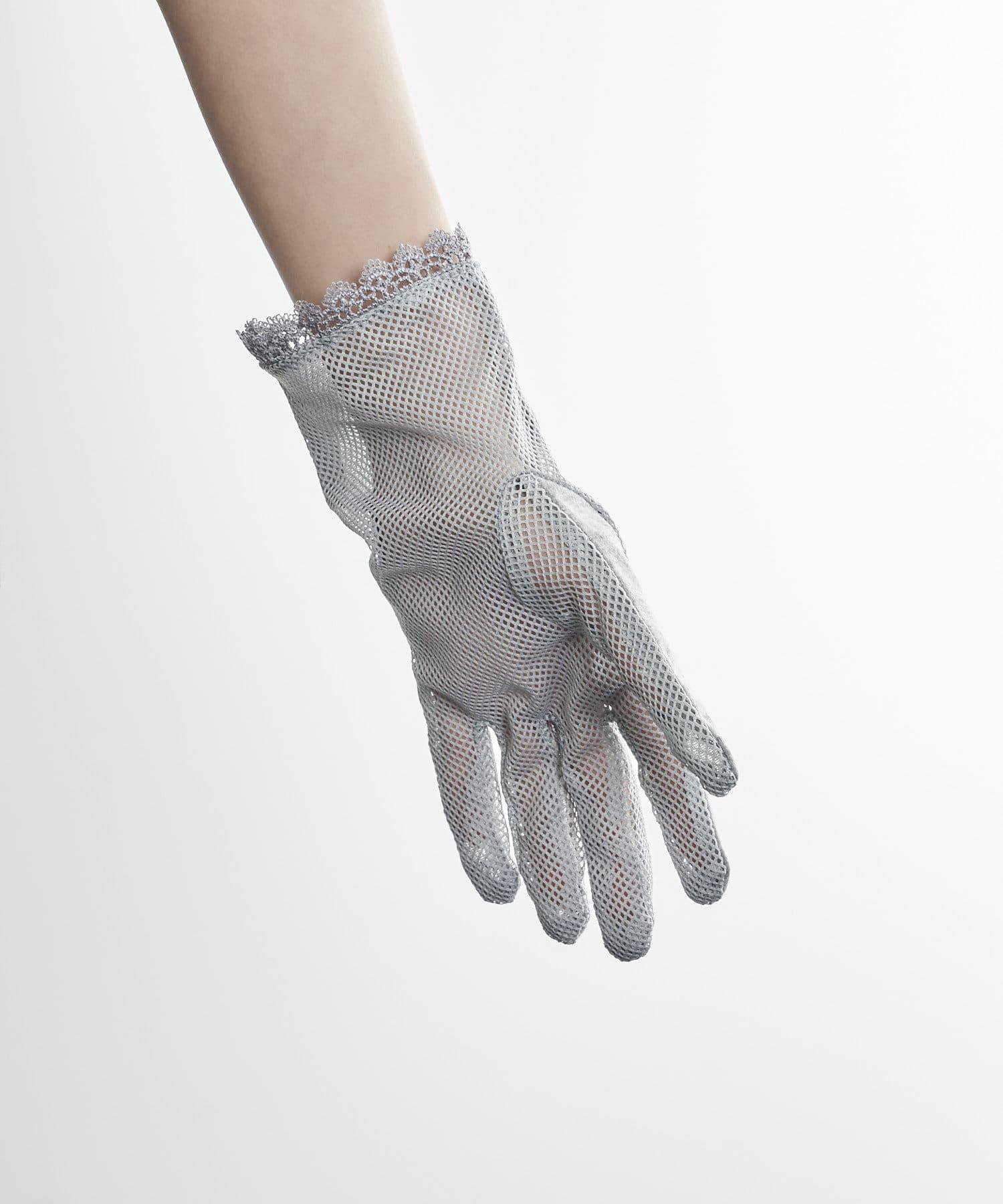 3COINS(スリーコインズ) ライフスタイル 【快適な日差し対策】冷感グローブショート丈 グレー