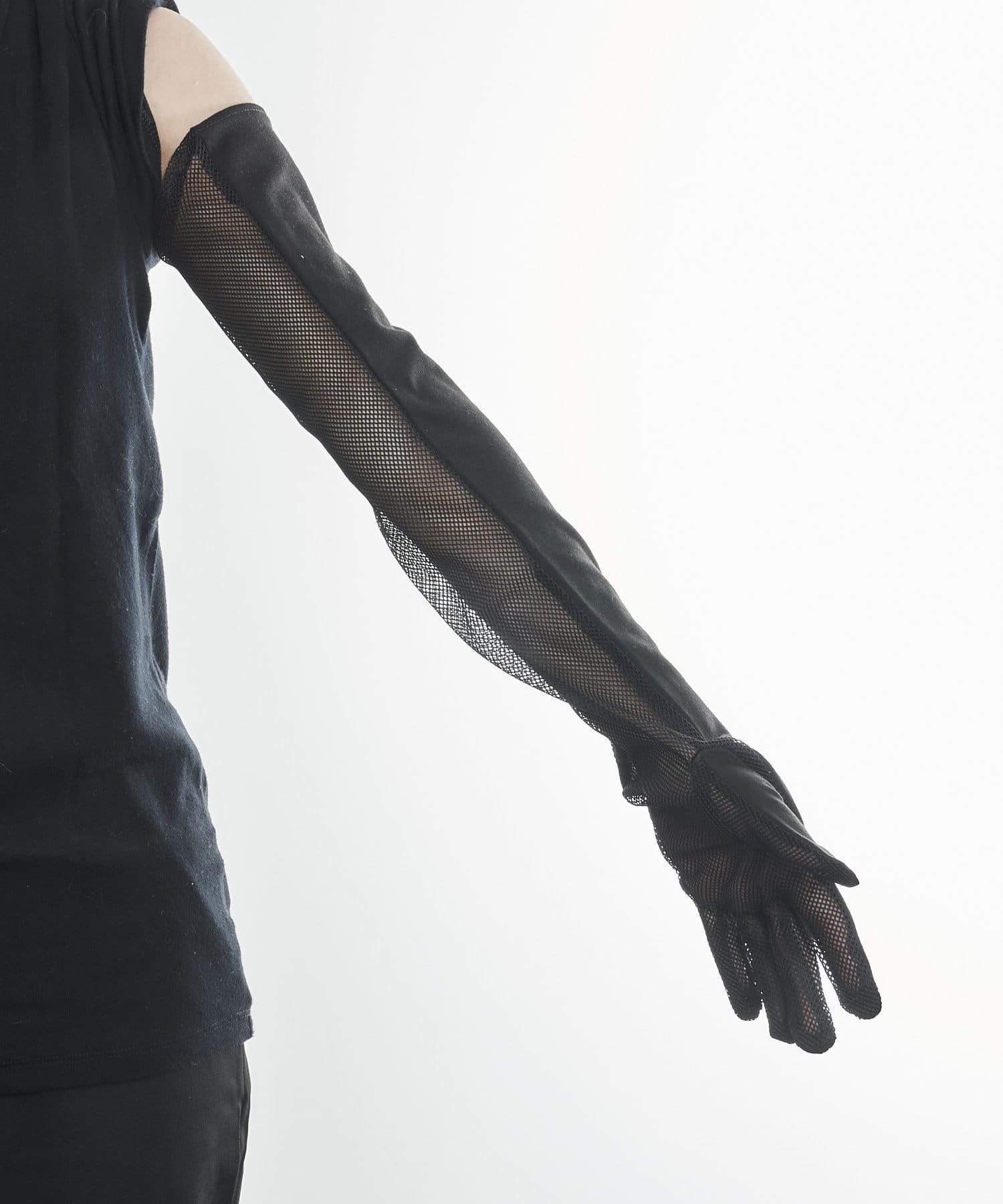 3COINS(スリーコインズ) ライフスタイル 【快適な日差し対策】冷感グローブロング丈 ブラック