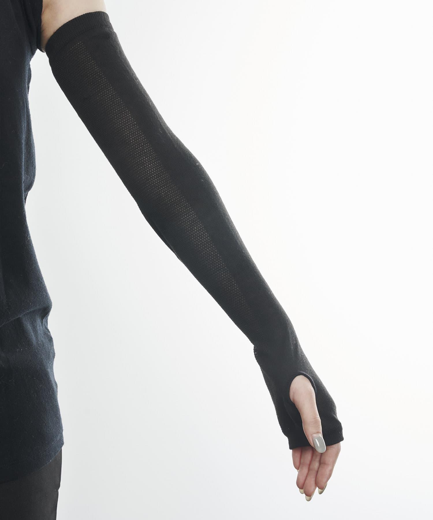 3COINS(スリーコインズ) ライフスタイル 【快適な日差し対策】冷感アームカバー ブラック