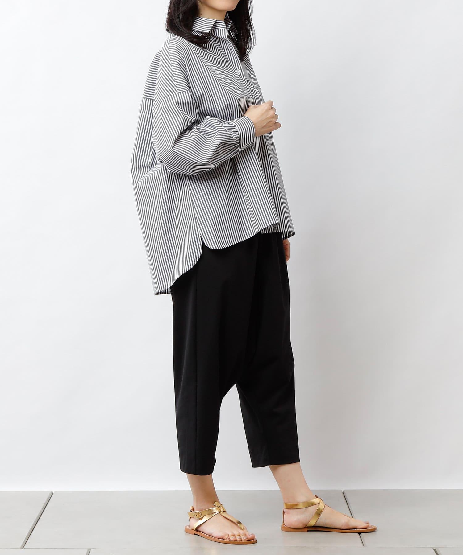 PLUS OTO.HA(プラス オトハ) 抜き衿美人 UVカットストライプシャツ