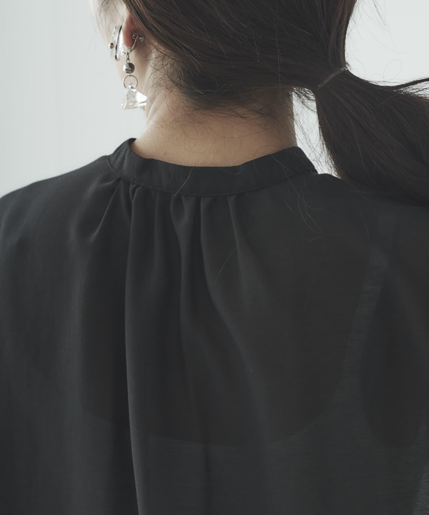 mona Belinda(モナ ベリンダ) ウェーブブザムシアーシャツ