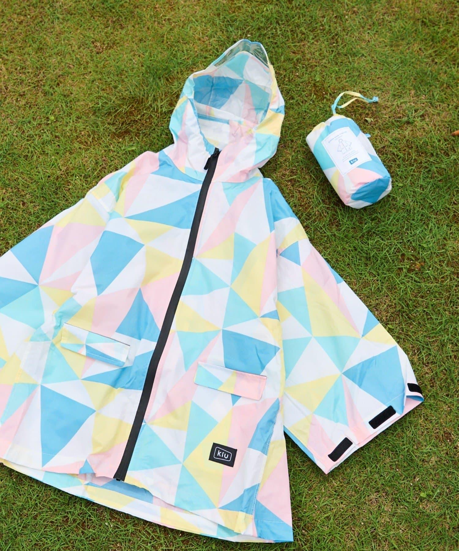 CIAOPANIC TYPY(チャオパニックティピー) キッズ 【KiU/キウ】SLEEVE RAIN PONCHO FOR KIDS ピンク