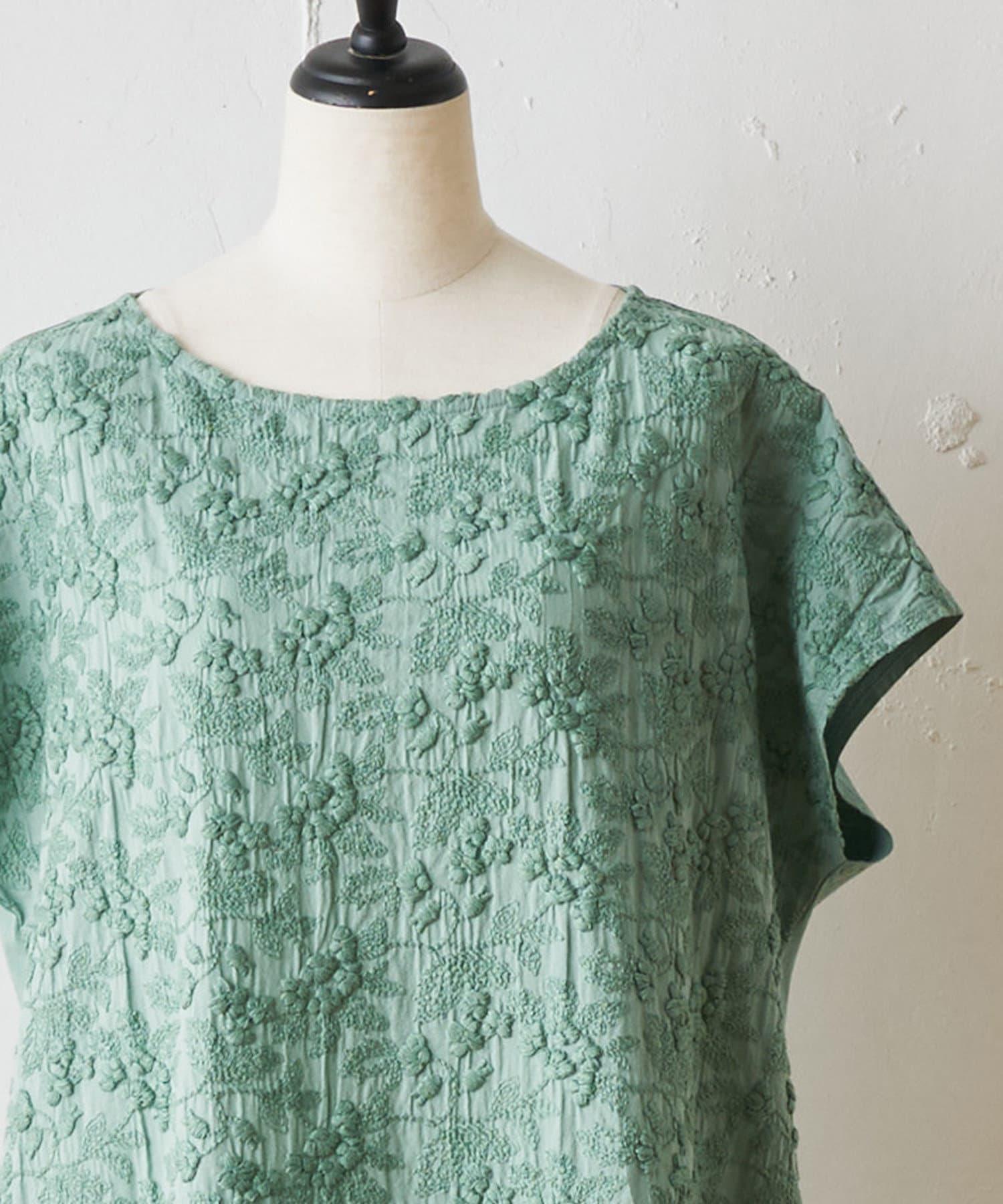 BEARDSLEY(ビアズリー) 敦賀フロント刺繍ワンピース