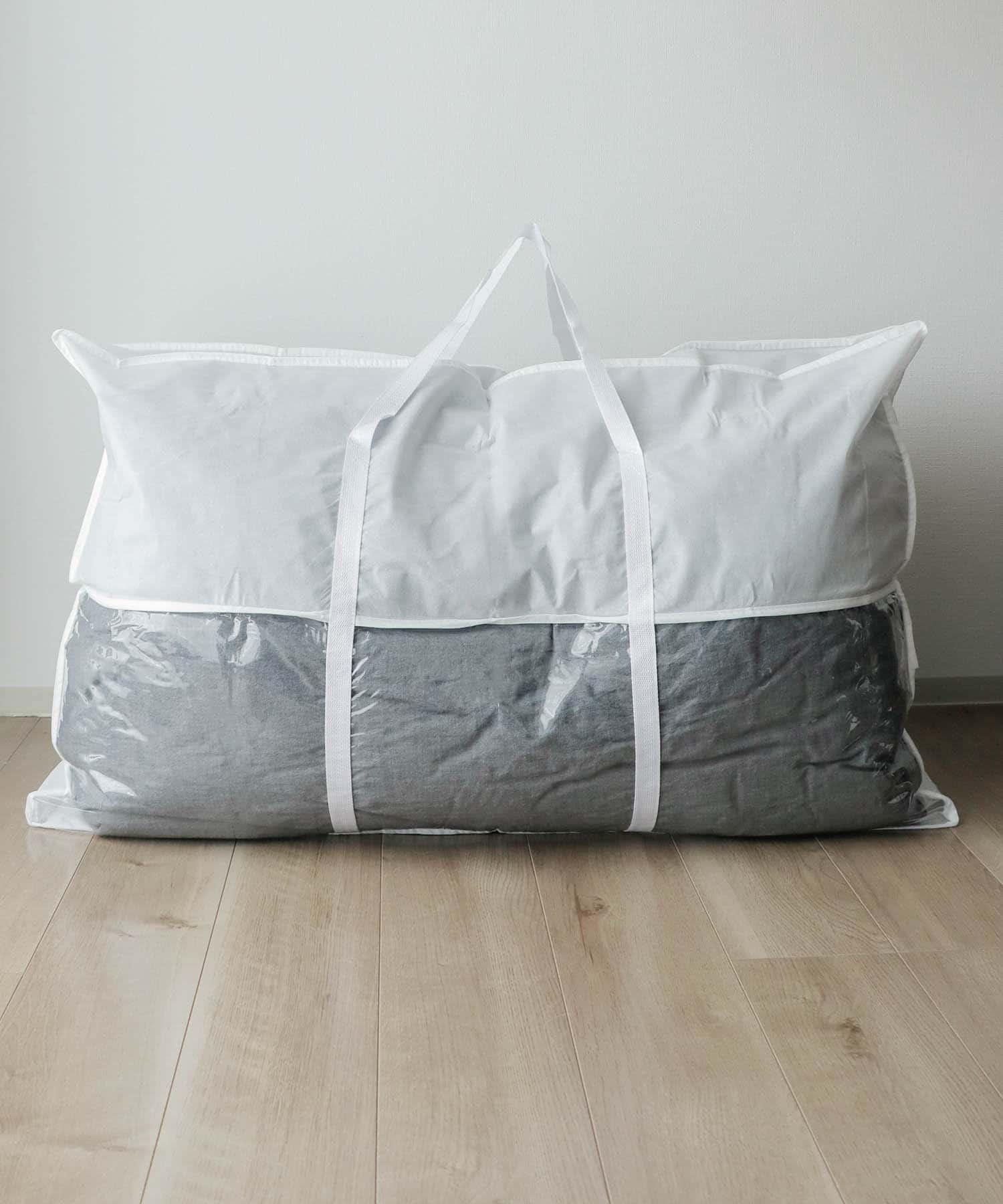 3COINS(スリーコインズ) 3COINS(スリーコインズ) 不織布布団収納バッグ【Lサイズ】 ホワイト