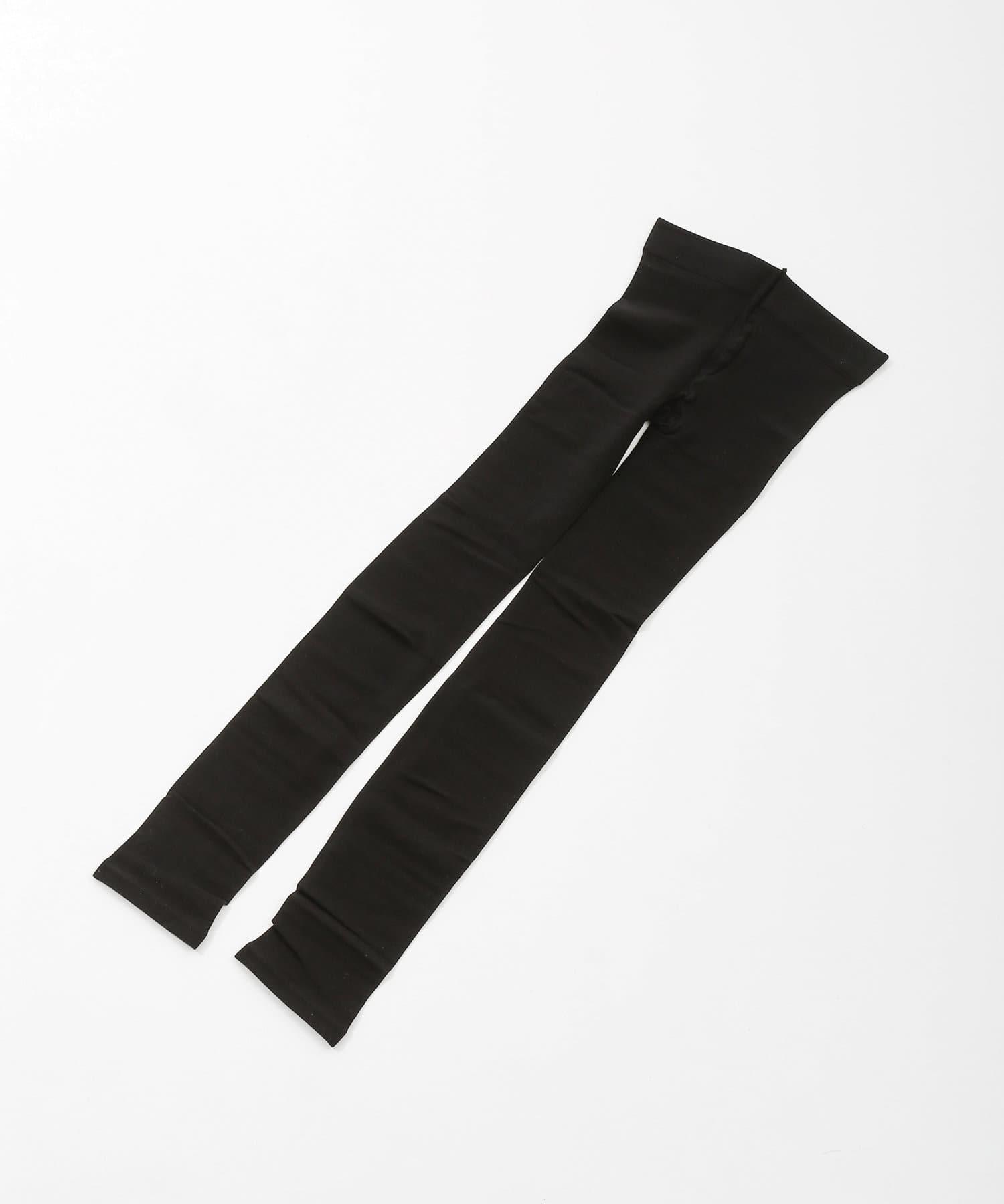 3COINS(スリーコインズ) ライフスタイル 【春夏快適インナー】接触冷感着圧レギンスL ブラック