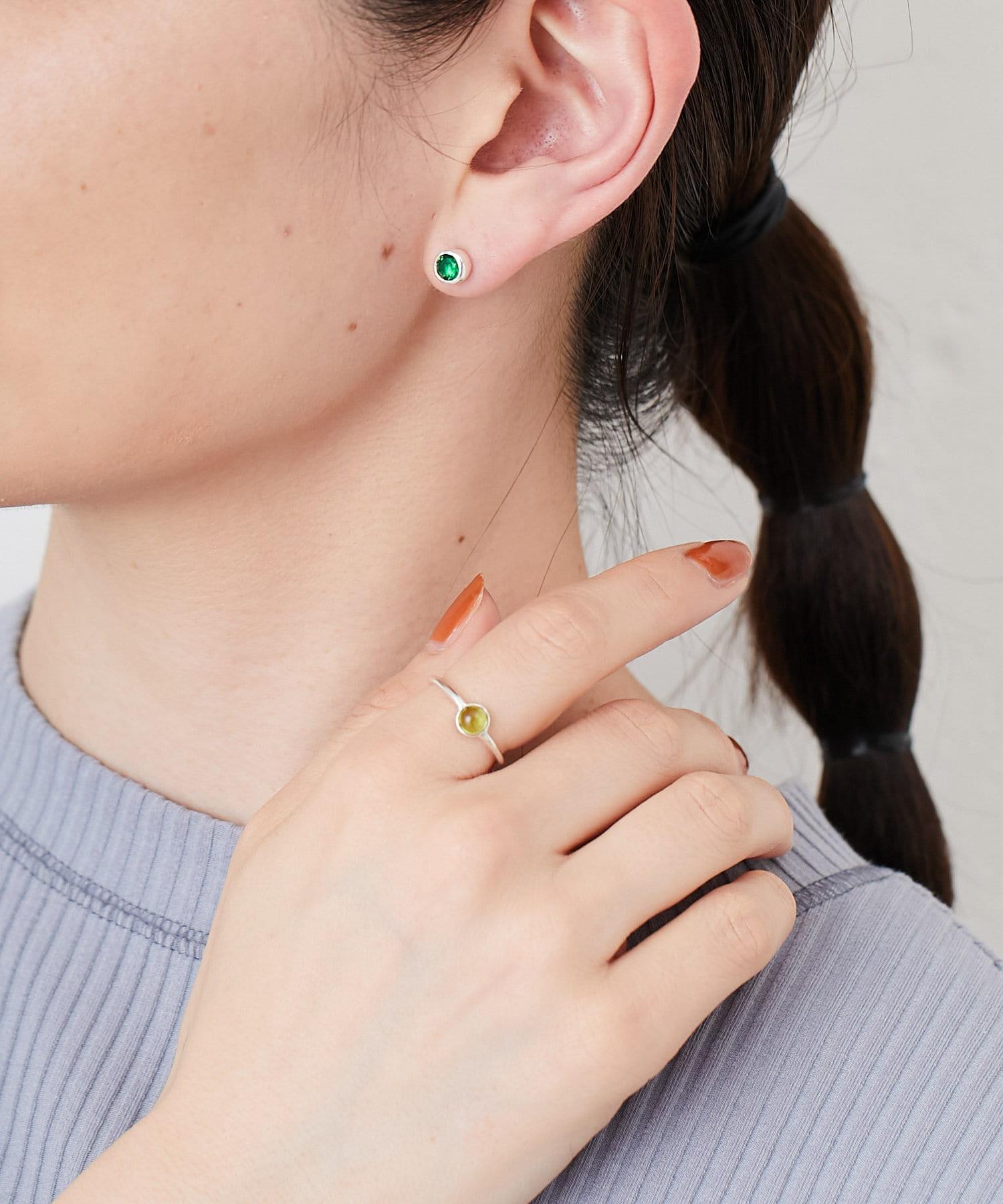 ear PAPILLONNER(イア パピヨネ) (WEB先行販売)シルバー925プチストーンリング