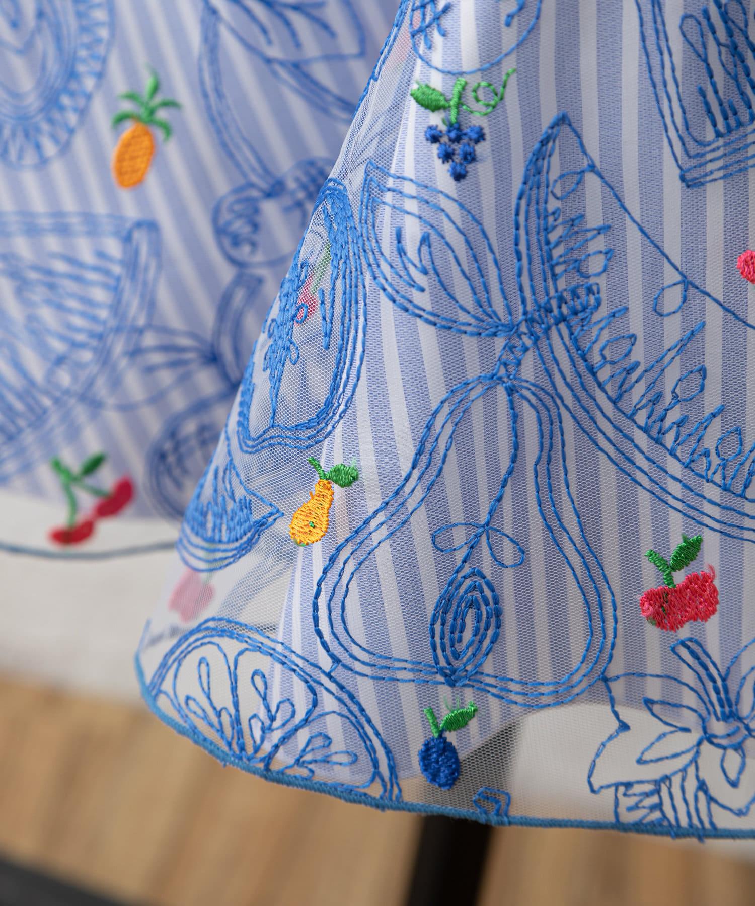 BEARDSLEY(ビアズリー) フルーツ刺繍ワンピース