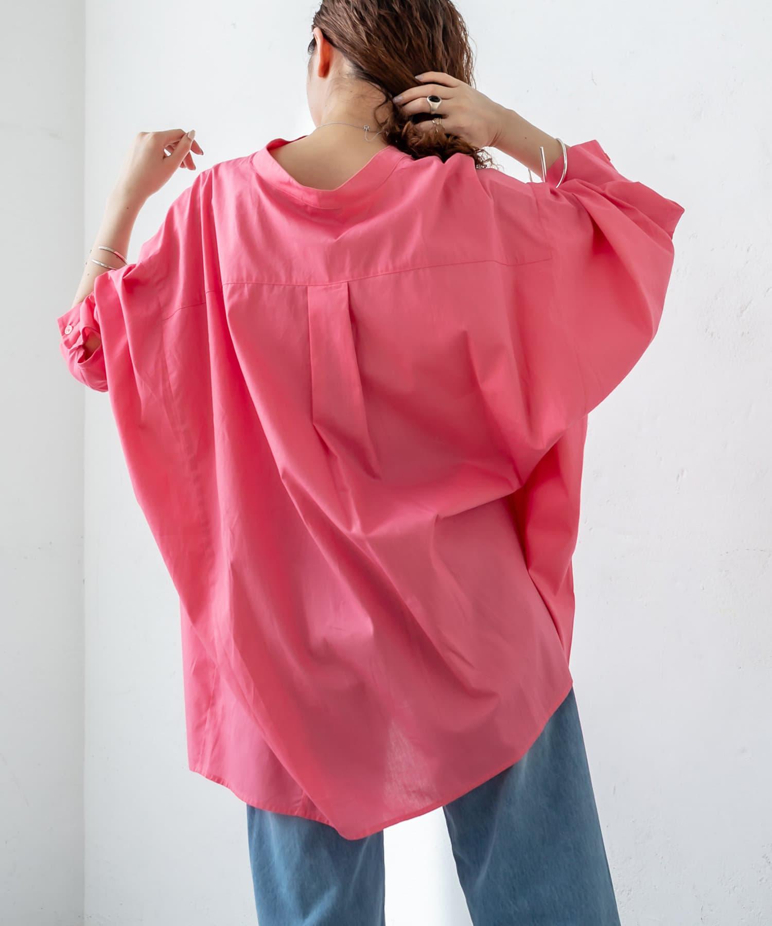 mystic(ミスティック) BACKタックBIGシャツ