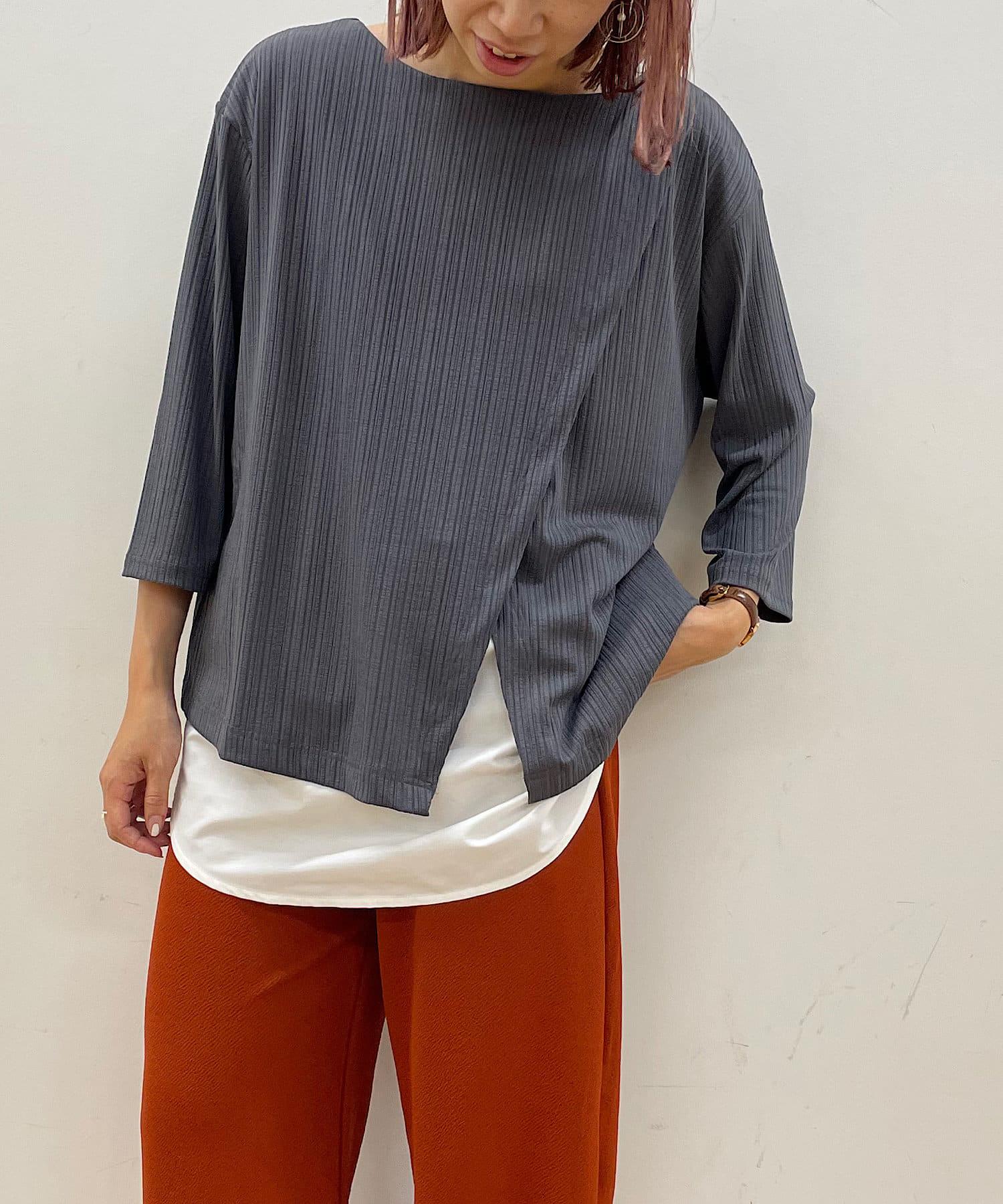 Pal collection(パルコレクション) 【着用動画あり】《WEB限定5色のカラバリ!》シャツレイヤード7分袖チュニック