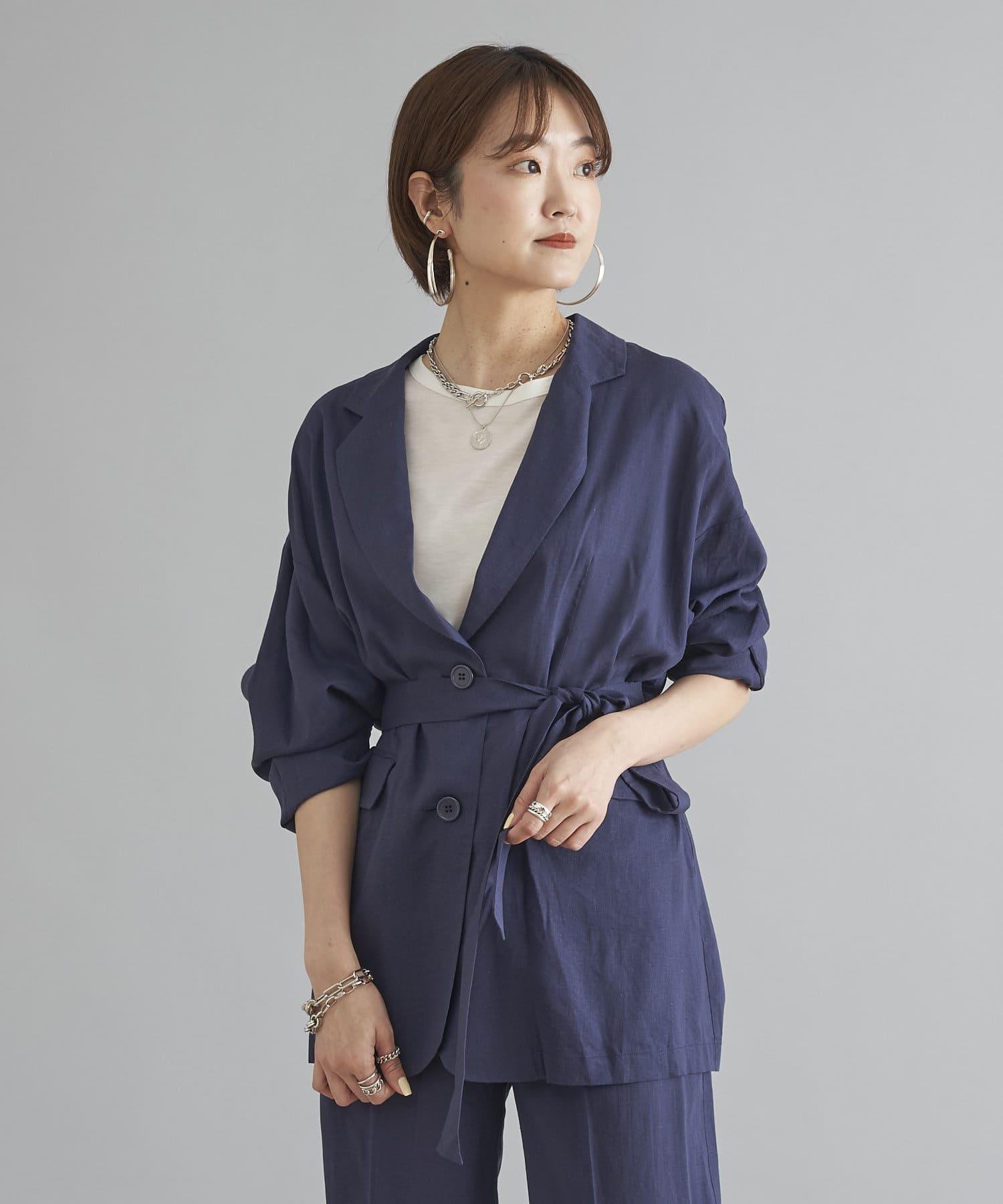 DOUDOU(ドゥドゥ) 【WEB限定】ジャケット+パンツ セットアップ