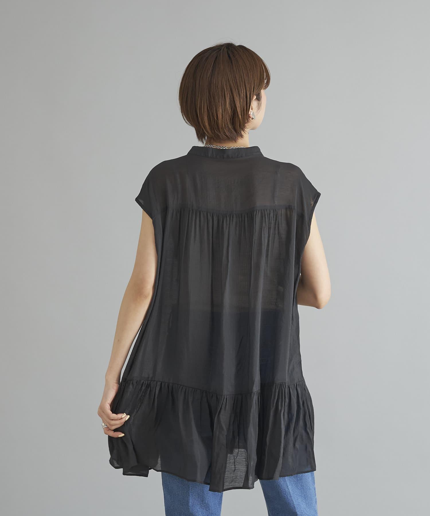 DOUDOU(ドゥドゥ) 【WEB限定】裾フリルフレンチブラウス