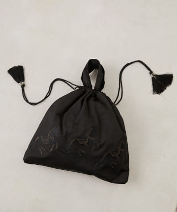 ear PAPILLONNER(イア パピヨネ) 【earWEBの定番】(web限定)馬刺繍巾着トートバッグ
