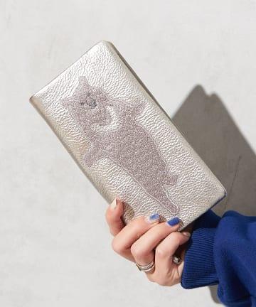 ear PAPILLONNER(イア パピヨネ) 【追加販売】(WEB限定カラー有)アニマル刺繍長財布
