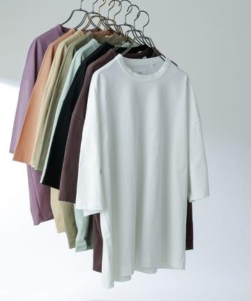 Lui's(ルイス) 高級 7分袖 ビッグシルエットTシャツ