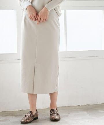 La boutique BonBon(ラブティックボンボン) 【手洗い可】エコスウェードロングスカート