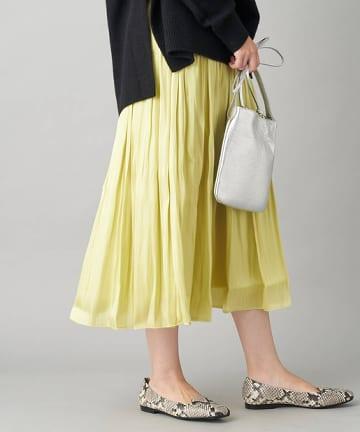 La boutique BonBon(ラブティックボンボン) 【手洗い可・人気アイテム】リキッドギャザースカート