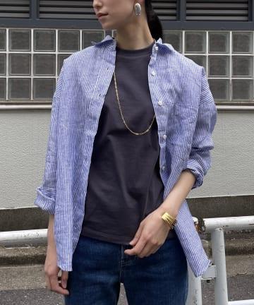 Loungedress(ラウンジドレス) 【YANUK/ヤヌーク】オーバーシャツ KATE/ケイト
