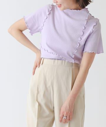 COLONY 2139(コロニー トゥーワンスリーナイン) ランダムテレコリブメローリンキング半袖Tシャツ