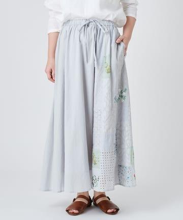 BEARDSLEY(ビアズリー) パッチワーク&刺繍スカート