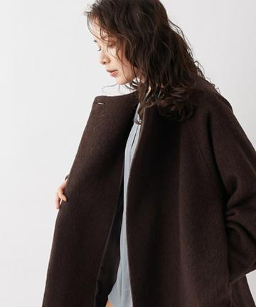 un dix cors(アンディコール) 【暖かみのある上質なシャギー素材】シャギーコクーンコート