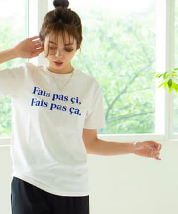 La boutique BonBon(ラブティックボンボン) 【大人気!洗える・LES PETITS BASICS】 ロゴT