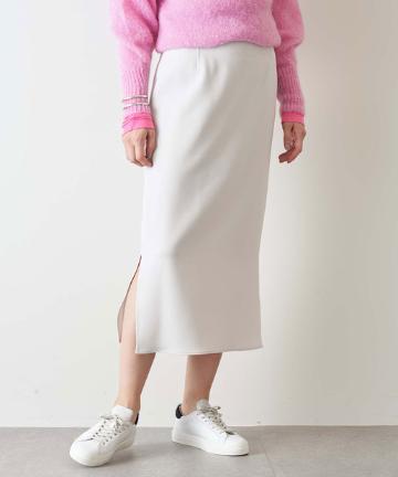 Whim Gazette(ウィム ガゼット) ダブルクロスサイドスリットタイトスカート