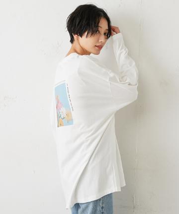 Discoat(ディスコート) バックフラワーフォトロングTシャツ