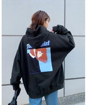 WHO'S WHO gallery(フーズフーギャラリー) 《WEB限定》東京ガール カラーフレームパーカー