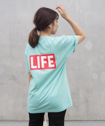 OUTLET(アウトレット) 【LIFE×LE'MAGE】 BOXロゴTシャツ