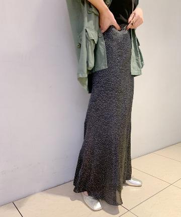 SHENERY(シーナリー) セミフレアドットナロースカート