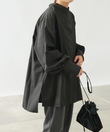 COLONY 2139(コロニー トゥーワンスリーナイン) 【WEB限定】バンドカラー前後2WAYチュニックシャツ