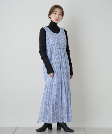 OUTLET(アウトレット) 【Kastane】花柄ワッシャーシフォンワンピース