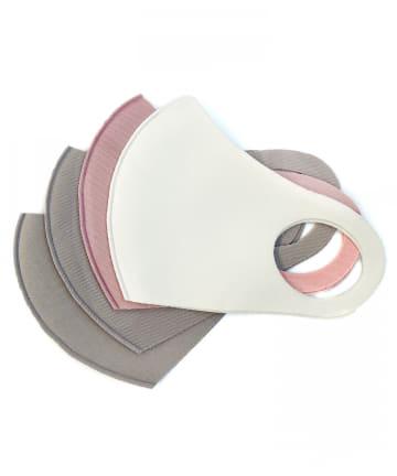 3COINS(スリーコインズ) 【普通サイズ】洗えるマスク4枚入