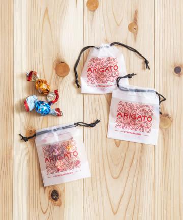 3COINS(スリーコインズ) 【ASOKO】【OMIYAGE】ビニール巾着10枚セットSサイズ