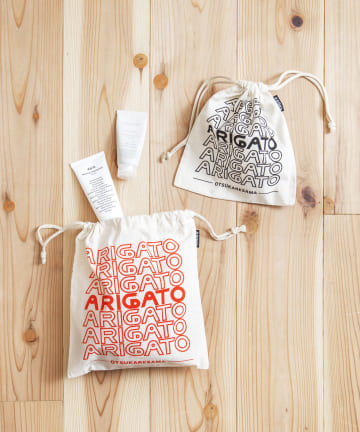 ASOKO(アソコ) 【OMIYAGE】ARIGATO巾着2個セット