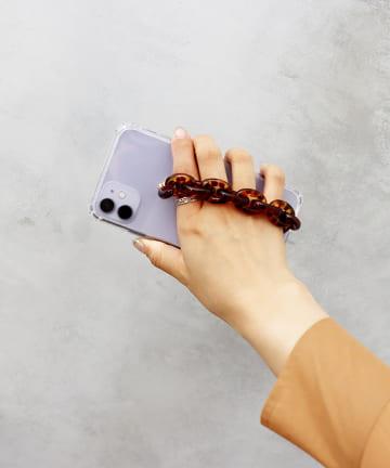 3COINS(スリーコインズ) 【ASOKO】<WEB限定SALE>べっ甲チェーンiPhone11ケース