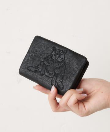 ear PAPILLONNER(イア パピヨネ) 【追加販売】アニマル刺繍折り財布