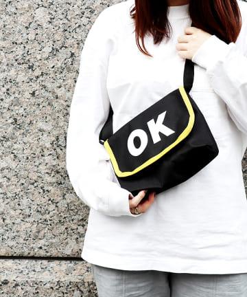 ASOKO(アソコ) ロゴメッセンジャーバッグ