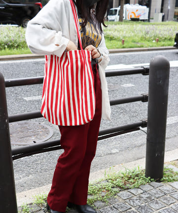 ASOKO(アソコ) 【ASOKO GOOD STANDARD】ストライプトートバッグ