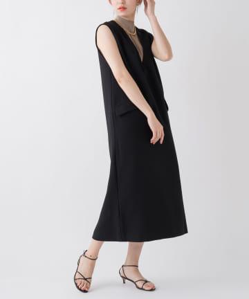 Loungedress(ラウンジドレス) 【WEB限定】深Vジャンパースカート