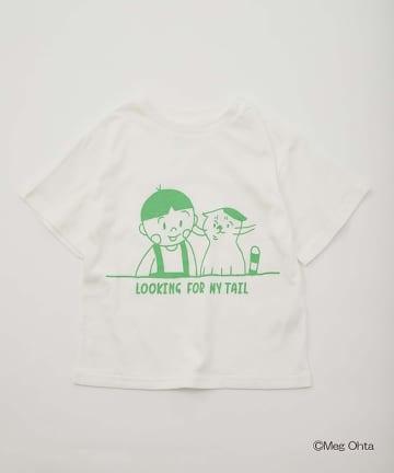 OUTLET(アウトレット) 【CIAOTYPY】【KIDS】「こむたんとぼくのすてきなしっぽ」 コラボ T