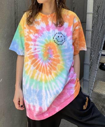 RASVOA(ラスボア) 【DC SHOES】BASIC TIEDYE Tシャツ