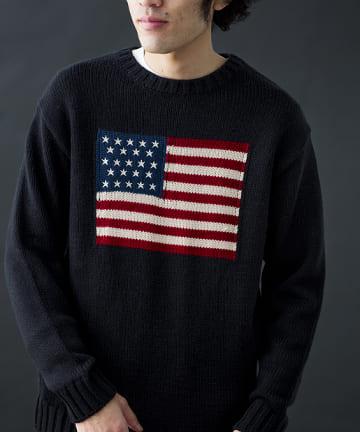 CPCM(シーピーシーエム) アメリカ国旗ニット