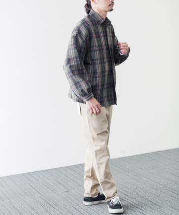 CPCM(シーピーシーエム) CPO起毛チェックビッグシャツ