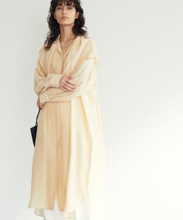 GALLARDAGALANTE(ガリャルダガランテ) 【HERITANOVUM】スカーフシャツドレス