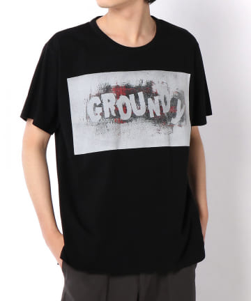Lui's(ルイス) 【Ground Y 】Check Logo Graphic Tee