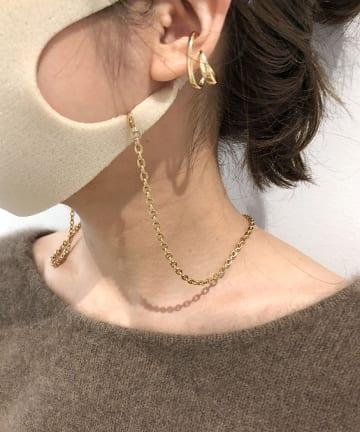 Omekashi(オメカシ) ゴールドマスクチェーンネックレス