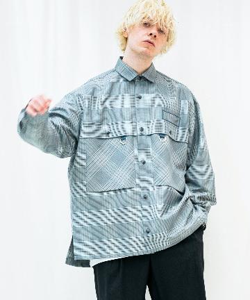 Lui's(ルイス) 【TAUPE/トープ】 ドライチェックタックポケットCPOシャツ